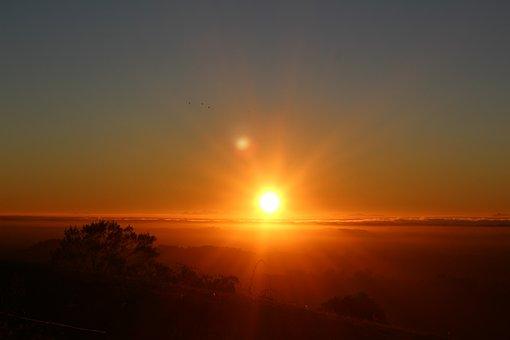 Born Sun, Dawn, Sky, Sol, Landscape, Atmosphere, Nature