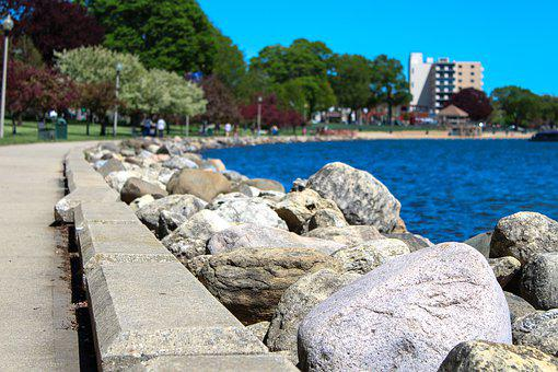 Rock, Rocks, Landscape, Nature, Beach, Sky, Scenic