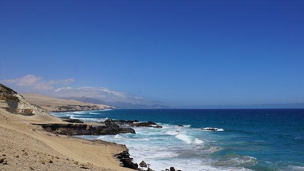 Coast, Sky, Sea, Ocean, Wave, Surf, Island, Water