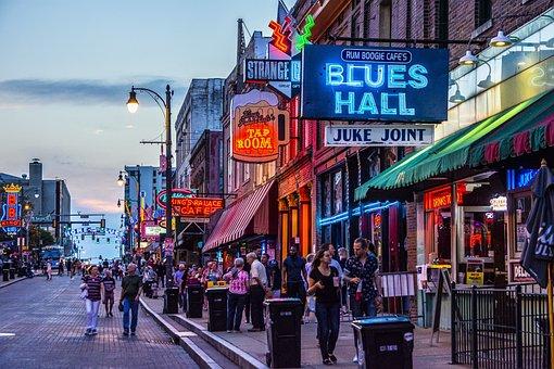 Beale Street, Memphis, Blues, Music, Sound, Outdoor