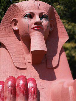 Sphinx, Graffiti, Street, Art, Crystal Palace, Make Up