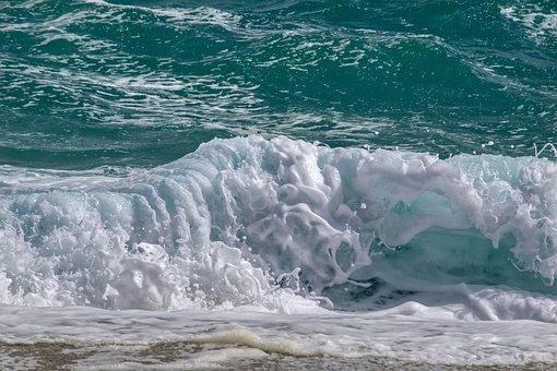 Wave, Foam, Beach, Sea, Nature, Turquoise, Movement