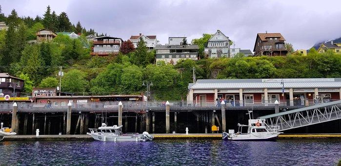 Ketchikan Alaska, Alaska, Tourism, Water, Cruise, Pier