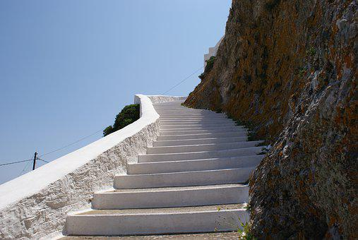 Stairs, Island, Serifos, Greece, K, Cyclades