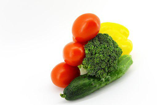 Background, White, Light, Vegetables, Different, Fresh
