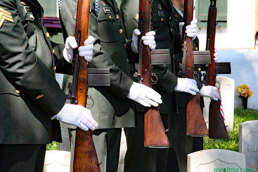 Soldiers, Honor Guard Detail, Firing Salute, Rifles