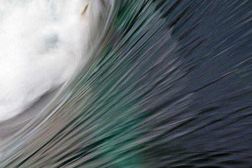 River, Water, Dynamics, Movement, Flow, Blue, Green