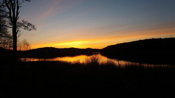 Sunset, Orange, Motljud, Mölnlycke, Gothenburg, Pixbo