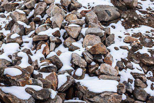 Snow, Rocks, Mountain, Rock, Nature, Mountains, High
