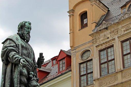 Statue, Fugger, Augsburg, Facades, Monument, Bavaria