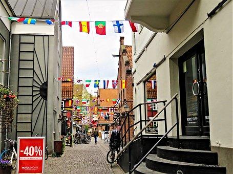 Odense, City, Denmark, Fyn, Historic Center