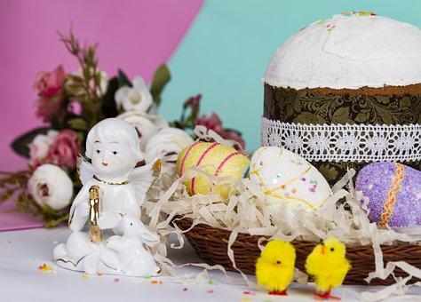 Easter, Easter Cake, Eggs, Holiday, Bake, The Dough