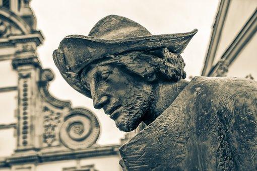 Pilgrims, Pilgrim, Monument, Statue, Speyer, Germany