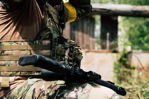 Weapon, Rifle, M4, Softari, Human, Ak-47, Swat