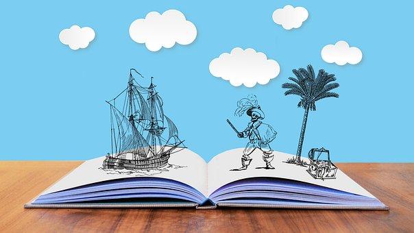 Tale, Story, Pirates, Fantasy, Treasure, Map, Island