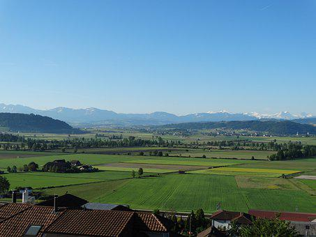 Landscape, Wauwil, Willisau, Switzerland, View