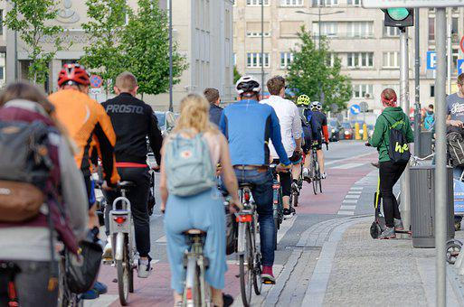 Cyclists, Bicycle, Transport, Urban, People
