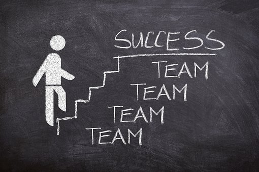 Business, Success, Stairs, Team, Board, Drawing