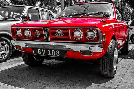 Car, Old, Classic, Retro, Vehicle, Automobile, Red
