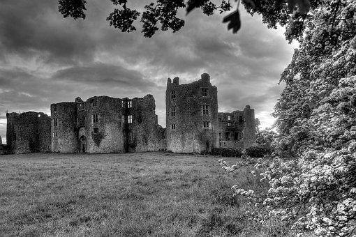 Roscommon, Ireland, Castle Ruin, Landscape, Hdr, Castle