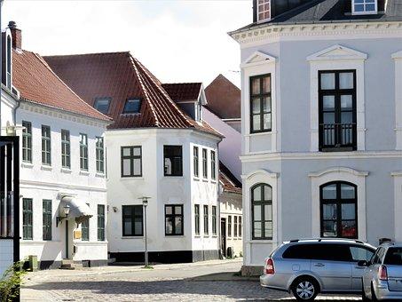 Houses, Small Town, Denmark, Assens, Building