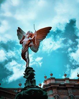 Statue, Angel, Sculpture, Figure, Wing, Heavenly