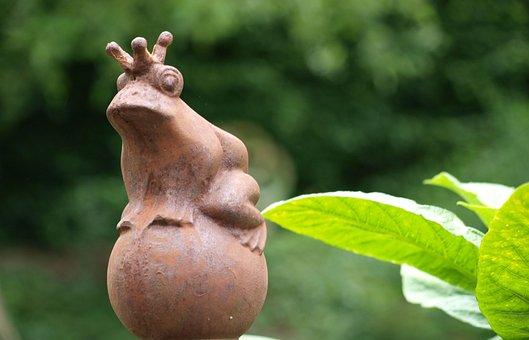 Gartendeko, Frog Prince, Garden Decoration, Figure