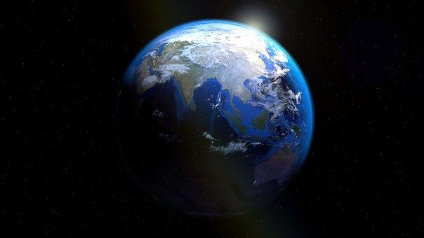 Asia, India, China, Earth, Globe, Sea Trenches