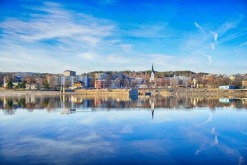 Norway, Hamar, Tourism, Cityscape, Town