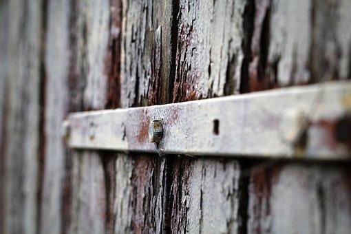 The Door, Old, Screw, Paint, Gateway, Handle