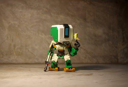 Bastion Overwatch Vinyl, Toy, Figurine, Six, Inch