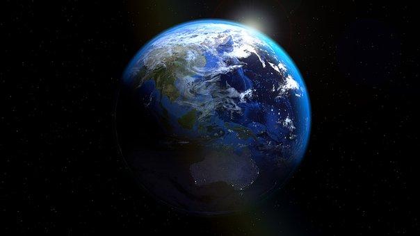 Australia, Indonesia, Earth, Globe, Sea Trenches