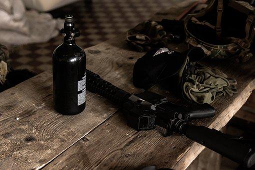 Rifle, Airsoft, Gas, M4, Weapon, Soldier, M4a1, Machine
