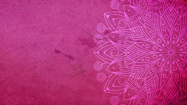 Mandala, Pink, Background, Decorative, Pattern