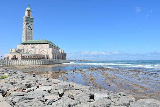 Mosque, Morocco, Islam, Religious, Hassan, Ocean