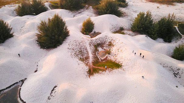 Drone, Aerial View, Sand Dunes, Texture, Dunes, Nature