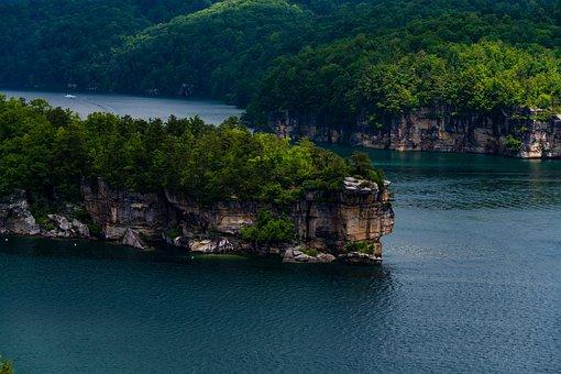 Lake, Summersville, Dam, Landscape, Nature, Mountains