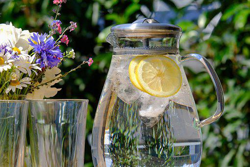 Water Jug, Drink, Refreshment, Clear, Glass Carafe