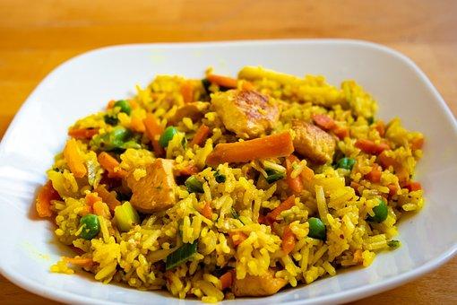 Rice Dish, Chicken Breast, Indonesian Dish, Peas