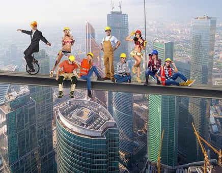 Skyworkers, Working, Construction, Work, Building