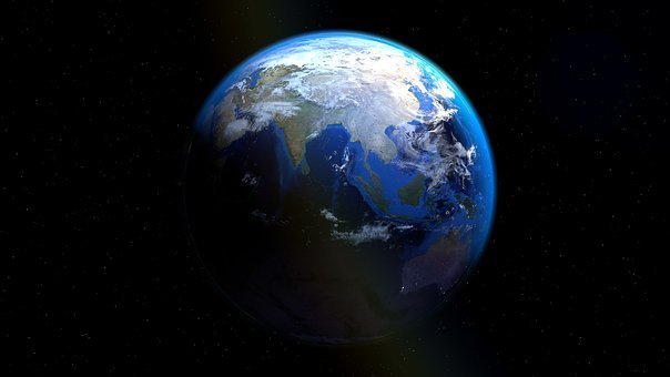 Earth, Globe, Sea Trenches, Earth's Crust, Space