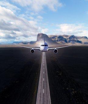 Plane, Road, Highway, Fly, Travel, Sky, Landscape