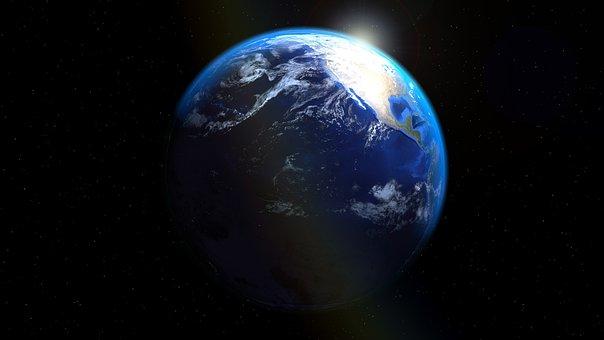 America, Usa, California, Earth, Globe, Sea Trenches