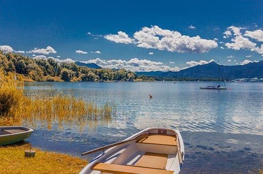 Chiemsee, Bavaria, Autumn, Landscape, Lake, Water