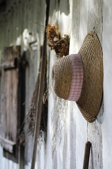 Hat, House, Summer, Old, Woman, Window, Travel, Vintage