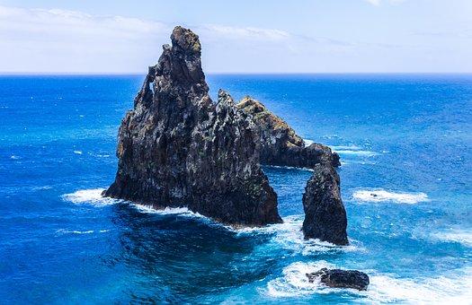 Madeira, Rock, Southwest Coast, Atlantic, Sea, Nature
