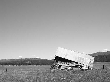 Barn, Shed, Collapse, Country, Rural, Countryside