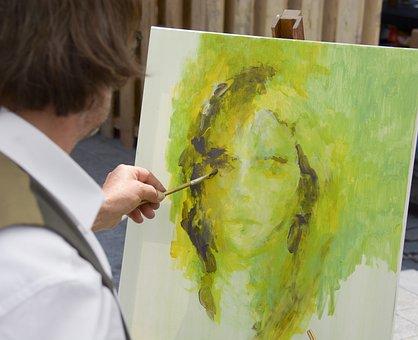 Painting, Brush, Artist, Painter, Paint, Art