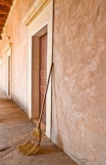 Monastery, Brushes, Door, Wall, Architecture, Entry