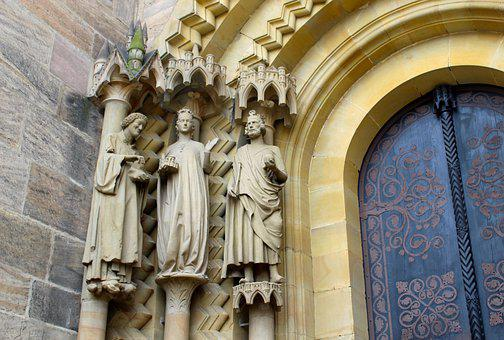 Bamberg, Dom, Figures, Portal, Church, Historically